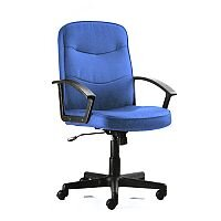 Harley Executive Office Chair Blue Fabric With Arms