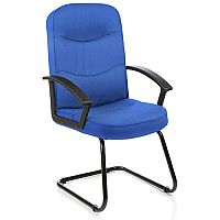Harley Boardroom & Visitor Cantilever Chair Blue Fabric With Arms