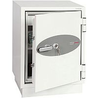 Phoenix Fire Fighter FS0441K Size 1 Fire Safe with Key Lock White 63L 60min Fire Protection