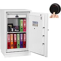 Phoenix Fire Fighter FS0443F Size 3 Fire Safe with Fingerprint Lock White 145L 60min Fire Protection