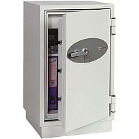 Phoenix Fire Fighter FS0443K Size 3 Fire Safe with Key Lock White 145L 60min Fire Protection