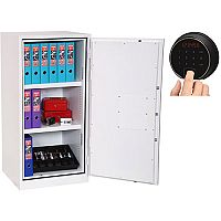 Phoenix Fire Ranger FS1511F Size 1 Fire Safe with Fingerprint Lock White 230L 30min Fire Protection