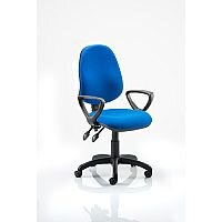 Eclipse II Lever Task Operator Office Chair Blue With Loop Arms