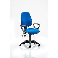 Eclipse III Lever Task Operator Office Chair Blue With Loop Arms