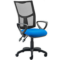 Eclipse II Lever Task Operator Office Chair Mesh Back With Blue Seat & Loop Arms