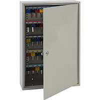Phoenix Keysure KC0302K 100 Hook Deep Key Cabinet with Key Lock Light Grey
