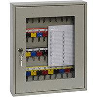 Phoenix Keysure KC0402K 40 Hook Clear View Key Cabinet with Key Lock Light Grey