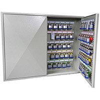 Phoenix Keysure KC0503K 100 Hook Deep Plus Key Cabinet with Key Lock Light Grey