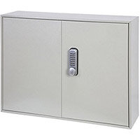 Phoenix Keysure KC0503M 100 Hook Deep Plus Key Cabinet with Mechanical Combination Lock Light Grey