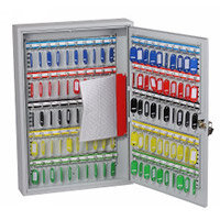 Phoenix Commercial Key Cabinet KC0601K 42 Hook with Key Lock. Light Grey
