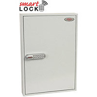 Phoenix Commercial Key Cabinet KC0603N 100 Hook with Net Code Electronic Lock. Light Grey