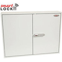 Phoenix Commercial Key Cabinet KC0606N 400 Hook with Net Code Electronic Lock. Light Grey