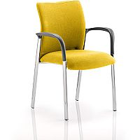 Academy Boardroom & Visitor Chair With Arms Fabric Back & Seat Sunset Yellow