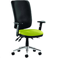 Chiro High Back Task Operator Office Chair Swizzle Green Seat