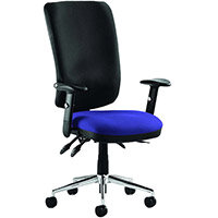 Chiro High Back Task Operator Office Chair Serene Blue Seat