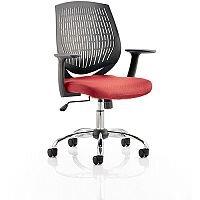 Dura Medium Back Task Operator Office Chair Cherry Red