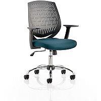 Dura Medium Back Task Operator Office Chair Kingfisher Green