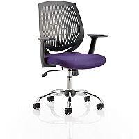 Dura Medium Back Task Operator Office Chair Purple