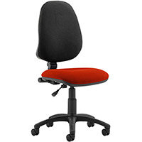 Eclipse I Lever Task Operator Office Chair Pimento Rustic Orange Seat