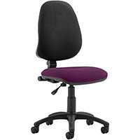 Eclipse I Lever Task Operator Office Chair Purple Seat
