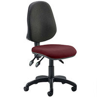 Eclipse III Lever Task Operator Office Chair Chilli Red Seat