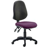 Eclipse III Lever Task Operator Office Chair Purple Seat