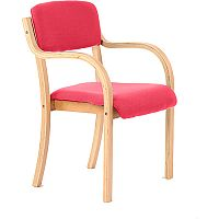 Madrid Boardroom & Visitor Chair With Arms Cherry Red