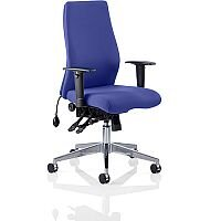 Onyx High Back Ergonomic Posture Office Chair Serene Blue With Arms