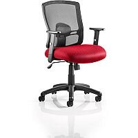 Portland Mesh Back Task Operator Office Chair Cherry Red