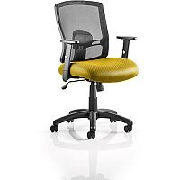 Portland Mesh Back Task Operator Office Chair Sunset Yellow