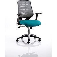 Relay Task Operator Office Chair Silver Back Kingfisher Green