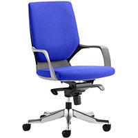 Xenon Executive Office Chair Black Frame Medium Back Serene Blue Seat