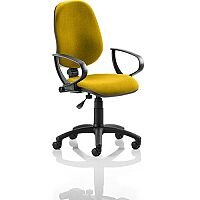 Eclipse I Lever Task Operator Office Chair With Loop Arms In Sunset Yellow