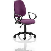 Eclipse I Lever Task Operator Office Chair With Loop Arms In Purple
