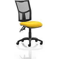 Eclipse II Lever Task Operator Office Chair Mesh Back With Sunset Yellow Seat