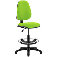 Eclipse I Lever Task Operator Office Chair Swizzle Green With Draughtsman Kit