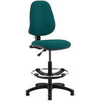 Eclipse I Lever Task Operator Office Chair Kingfisher Green With Draughtsman Kit