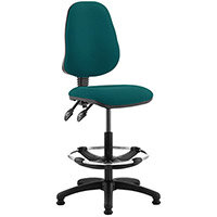 Eclipse II Lever Task Operator Office Chair Kingsfisher With Draughtsman Kit