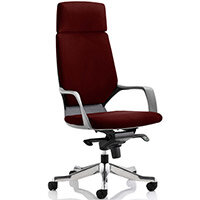 Xenon Black Frame High Back Executive Office Chair With Headrest Chilli Red