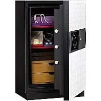 Phoenix Next LS7002FW Luxury Safe Size 2 White with Fingerprint Lock White 72L 60min Fire Protection