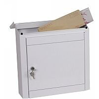 Phoenix Moda MB0113KW Top Loading Mail Box in White with Key Lock White