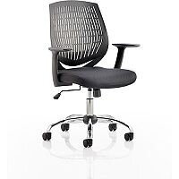 Dura Task Operator Office Chair Black Mesh Back & Black Seat With Arms