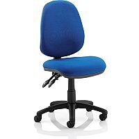 Luna II Lever Task Operator Office Chair Blue Without Arms