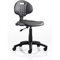 Malaga Wipe Clean Task Operator Office Chair Black Polyurethane Seat And Back