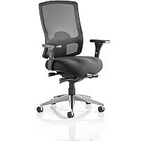 Regent Task Operator Office Chair Black Fabric Black Mesh Back With Arms
