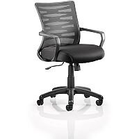 Vortex Task Operator Office Chair Black Mesh Back With Arms