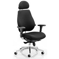 Chiro Plus Ultimate Posture Office Chair Black With Arms & Headrest