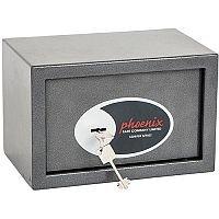 Phoenix Vela Home & Office SS0801K Size 1 Security Safe with Key Lock Metalic Graphite 10L