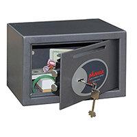 Phoenix Vela Deposit Home & Office SS0801KD Size 1 Security Safe with Key Lock Metalic Graphite 10L