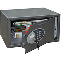 Phoenix Vela Deposit Home & Office SS0803ED Size 3 Security Safe with Electronic Lock Metalic Graphite 34L